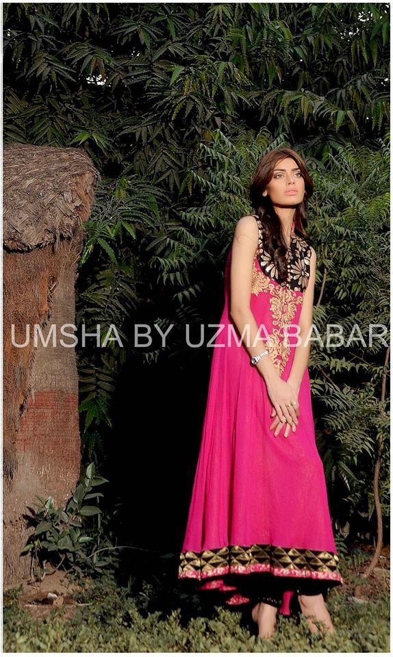 Umsha by Uzma Babar Latest Eid ul Azha Collection 2013 For Girls (4)