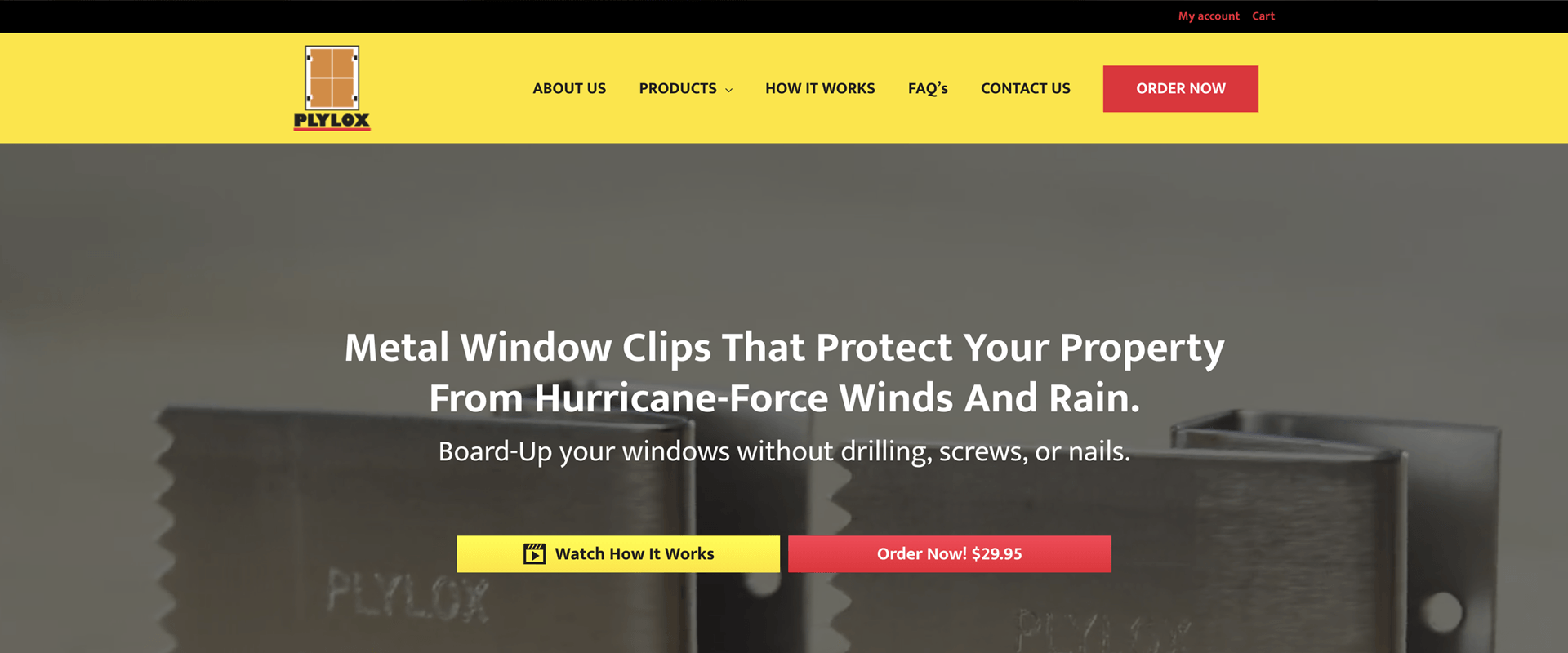 How To Install And Remove Your Plylox Hurricane Window Clips Protecting Your Property In 4 Easy Steps Pr In 2020 Hurricane Window Clips Window Clips Hurricane Windows
