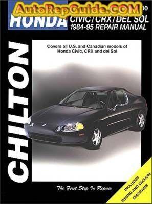 Nice Download Free   Honda Civic, CRX, Del Sol (1984 1995) Repair Manual:  Image:u2026 By Autorepguide.com