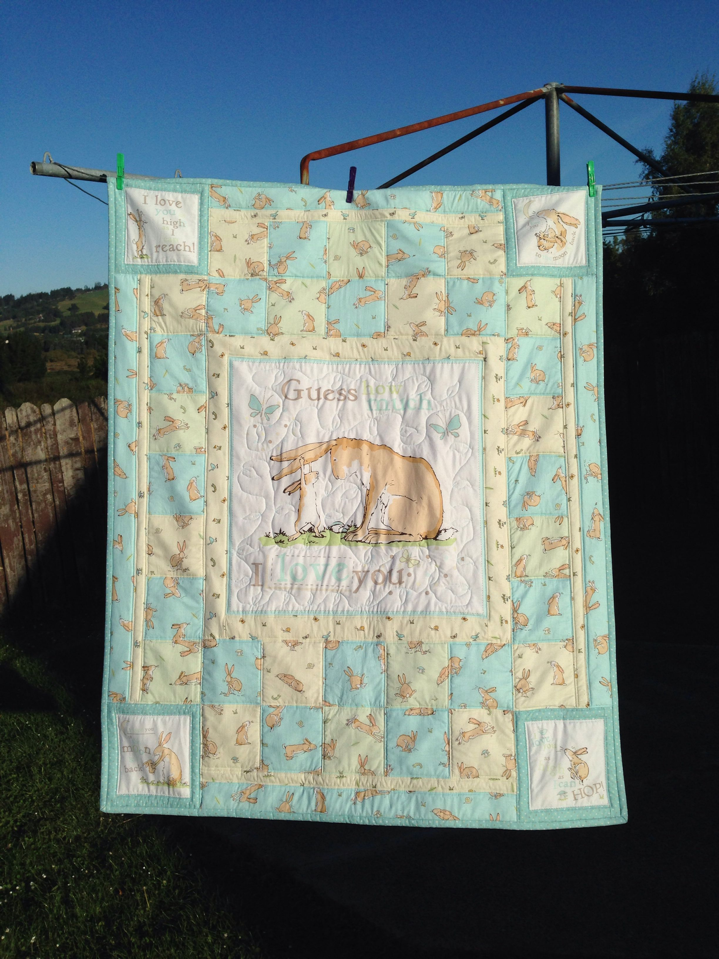 Guess How Much I Love You Cot Quilt Quilt Designed And Made By