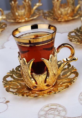 Set of 6 Turkish Style Tea Glasses with Brass Holder and Saucer Set,Gold,18 Pieces TM,http://www.amazon.com/dp/B00J5J37SY/ref=cm_sw_r_pi_dp_8okytb0E401AYK98