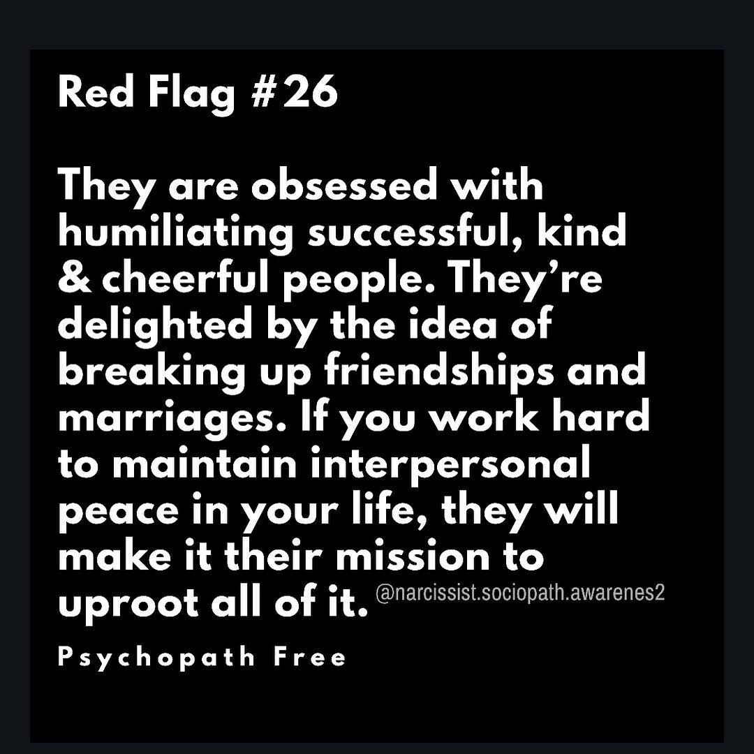 narcissist sociopath awarenes2 on Instagram --- Red Flags 21-30 from