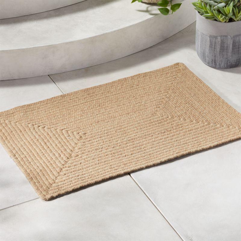 Borderline Doormat 2 X3 Reviews Cb2 Outdoor Mat Door Mat Modern Doormats