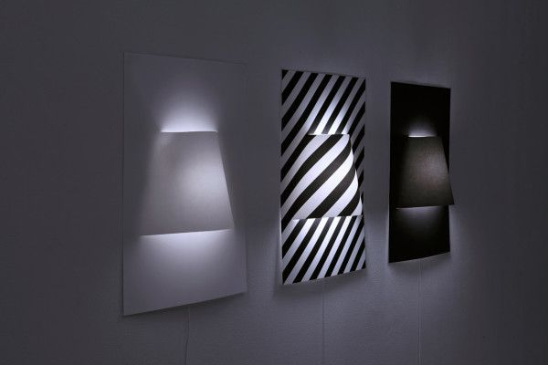 A Wall Lamp Made From a Sheet of Paper Poster wall, Walls and Lights
