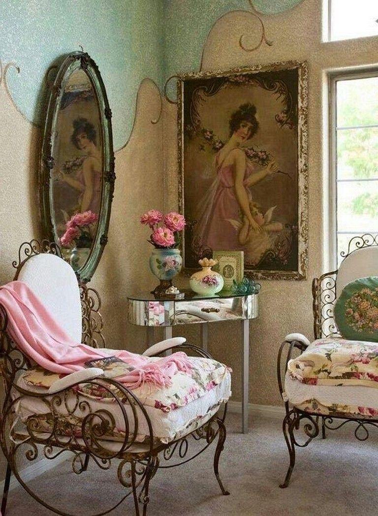 32+ Lovely Shabby Chic Chair Design Ideas for Living Room