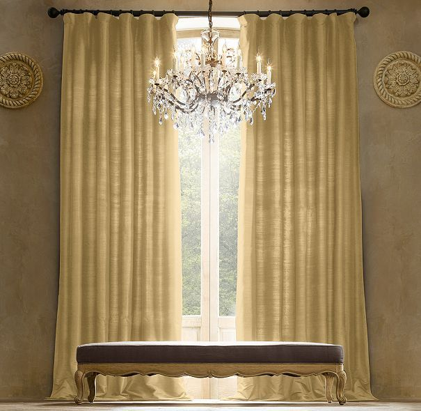 Thai Silk Solid Drapery Living Room Ideas Drapery Rods