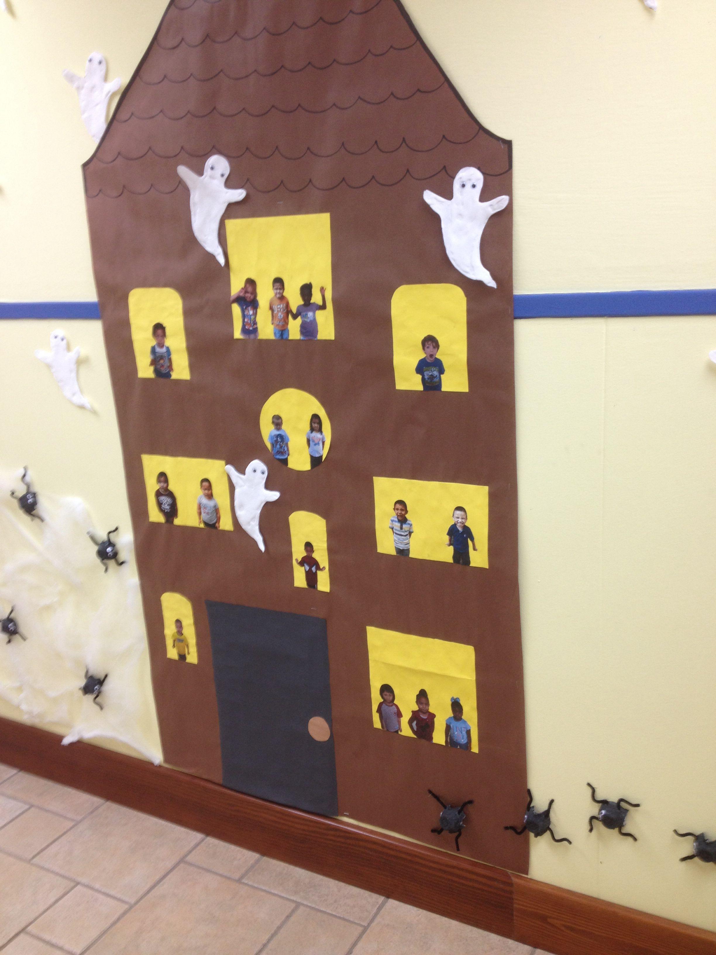 Preschool Classroom Halloween Bulletin Board Hunted House