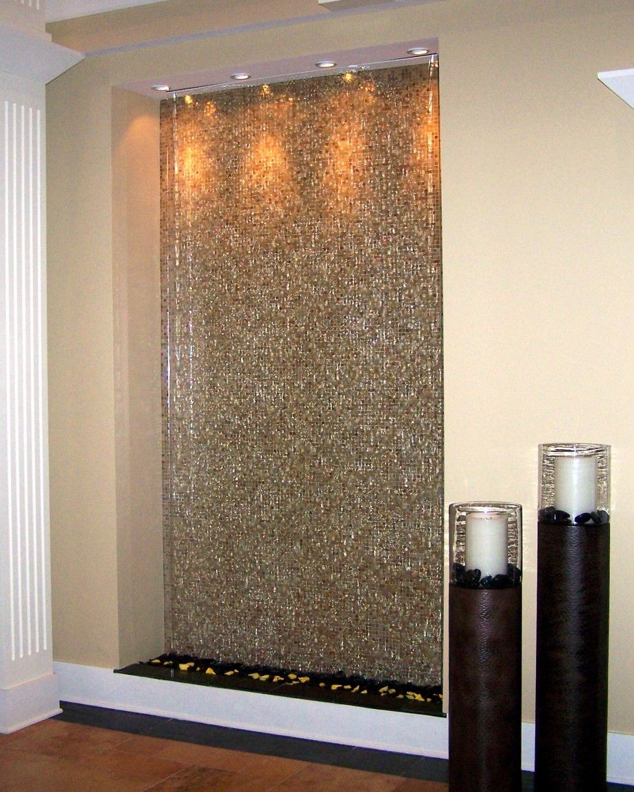 Furniture, : Fascinating Mosaic Wall Indoor Water Features As Furniture For Living  Room Decoration Part 33