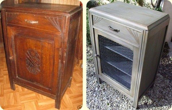 vieille armoire remis au go t du jour avec ce grillage de. Black Bedroom Furniture Sets. Home Design Ideas