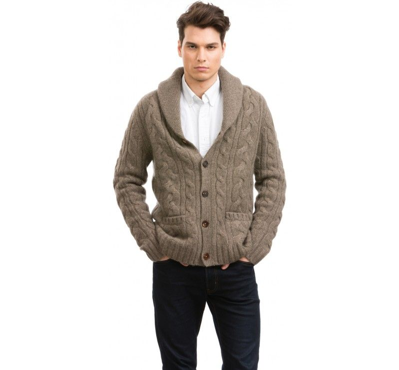 Shawl Collar Cardigan for Men by Citizen Cashmere | Shawl ...