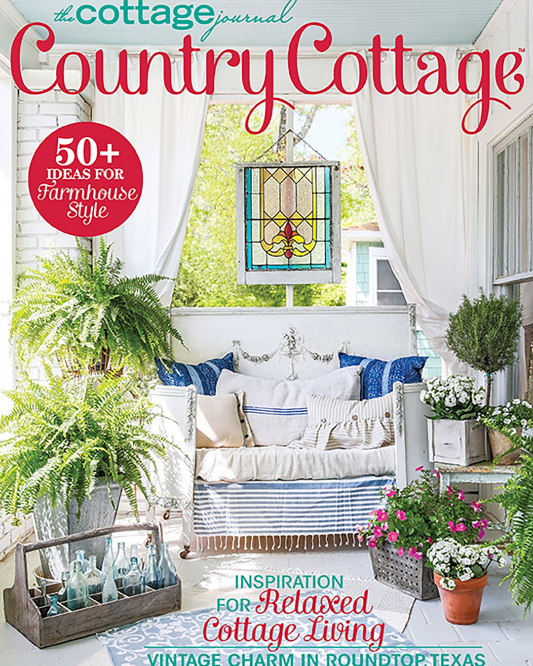Plenty Of Greenery And Cozy Linens Are The Keys To Our Dream Porch Want To See More Pick Up A Copy Of Our Country Cottage Decor Country Decor Catalogs Decor