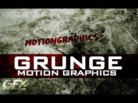 AFTER EFFECTS TUTORIAL :Grunge Motion Graphics in After Effects