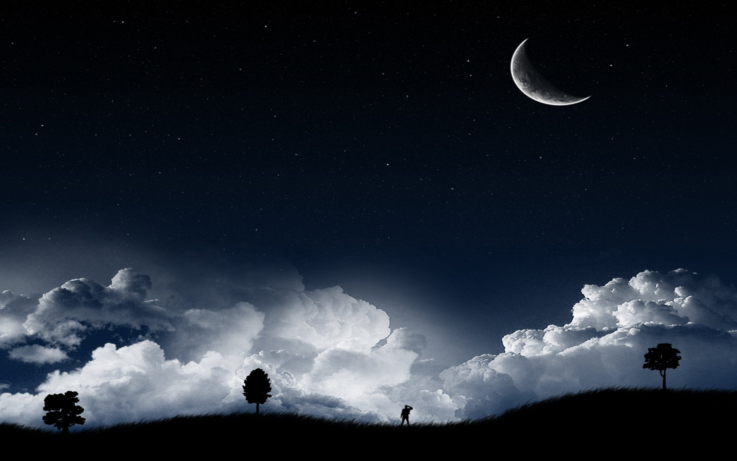 moon over the clouds wallpaper wallpaper | clouds | pinterest