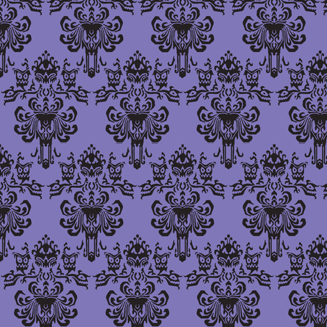 Haunted Mansion RemixPurple fabric by luthied on