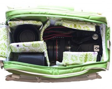 """Camera bag by Cheeky Lime  14.0""""x7.0""""x8.0"""" (LxWxH)"""