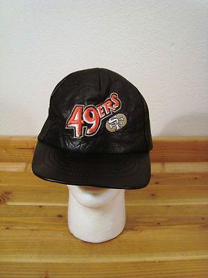 ecd8efa894589 ... shopping san francisco 49ers black leather baseball cap hat adjustable  red embroidery ebay 40077 00580