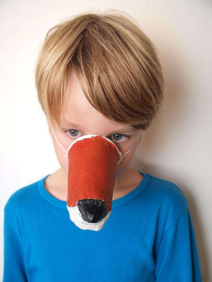 tiermasken basteln anprobe der fuchsnase basteln mit kindern. Black Bedroom Furniture Sets. Home Design Ideas