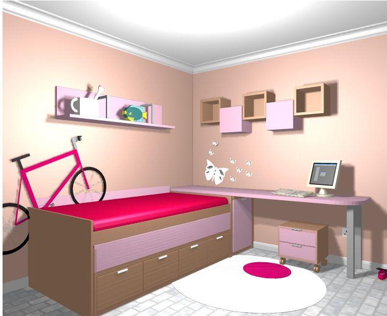 Dormitorio juvenil2 m hogar y decoraci n home y deco - Habitacion juvenil nina ...