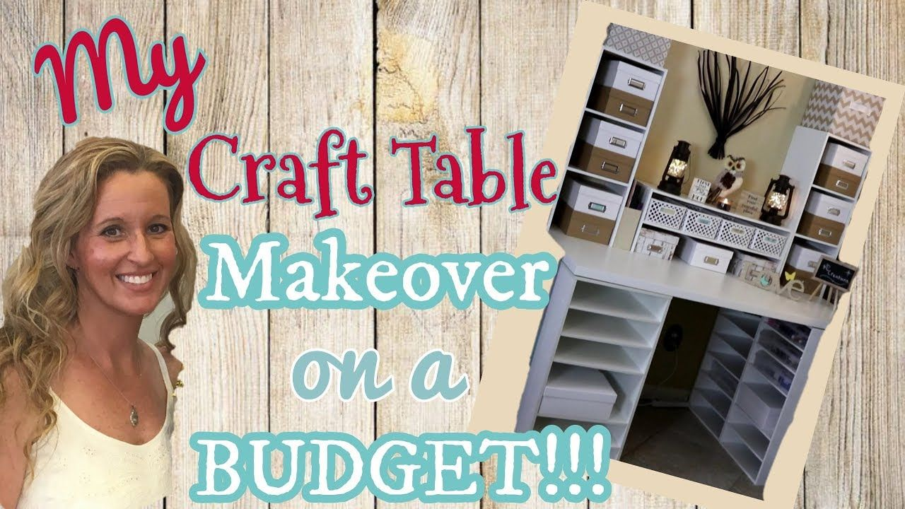 My Craft Table Makeover On A Budget Diy Craft Table Michael S Craft Craft Table Diy Craft Desk Craft Table