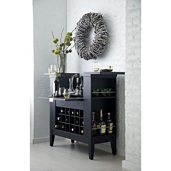 Elegant Black Home Bar Cabinet   Parker Spirits Ebony Cabinet