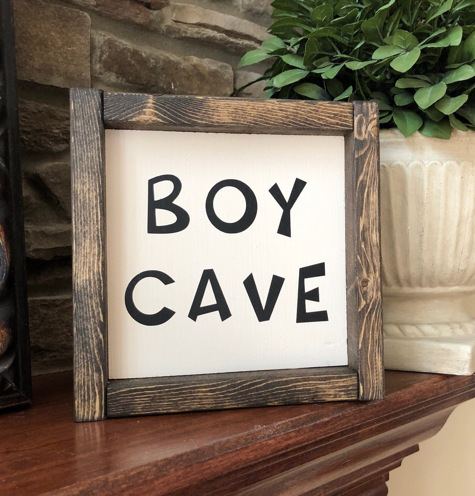 Boy Cave Sign | Boys Bedroom Sign | Man Cave | Boys Room Decor | Boy Cave Decor | Boys Room | Little Man Sign | Boy Nursery Sign | Boys