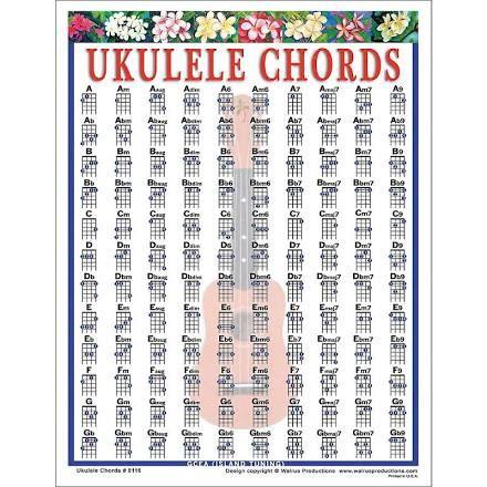 Google Express  Walrus Productions Ukulele Chord Mini Chart