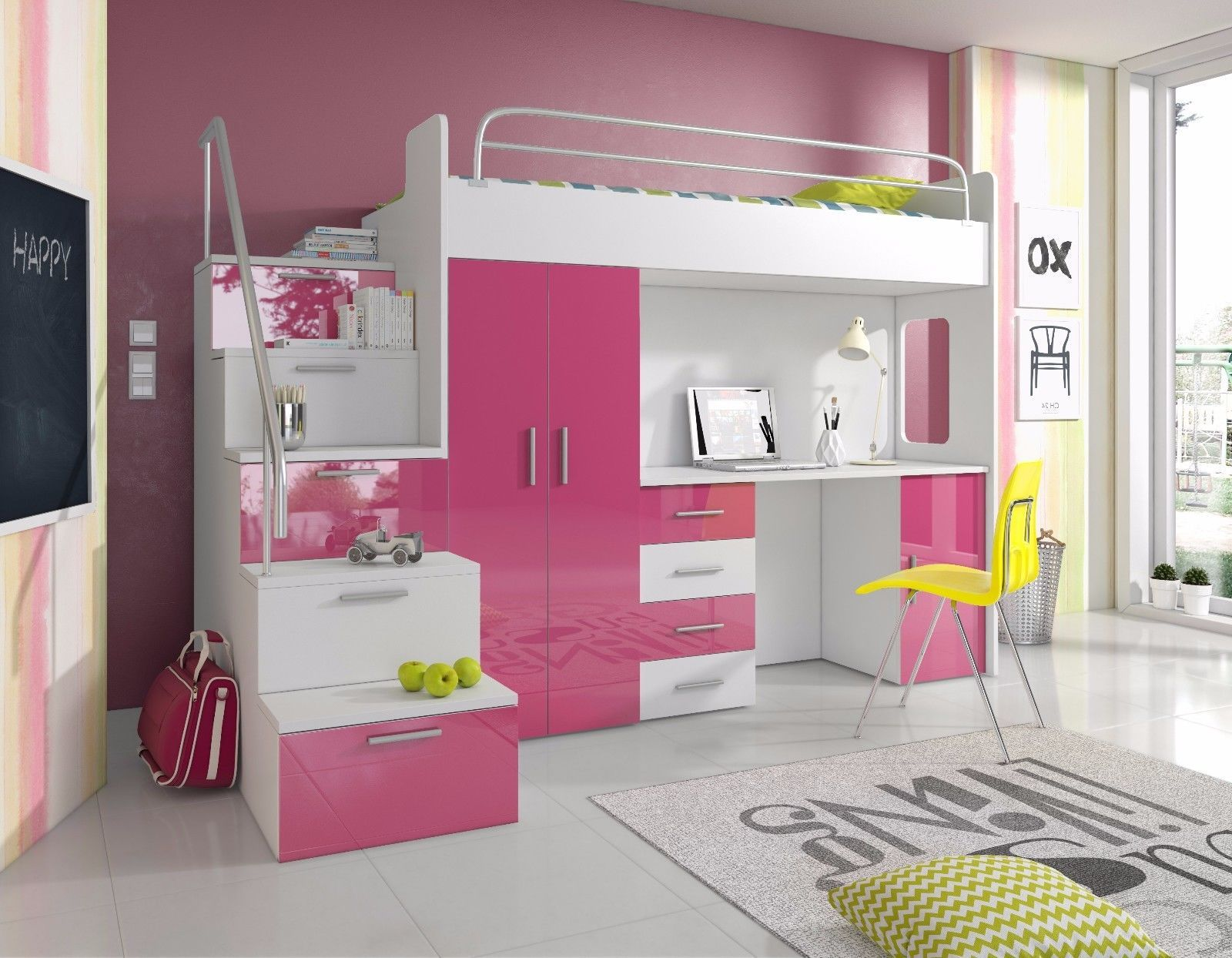 Bedroom Furniture 66742 New Kids Furniture Pink Vanity Table With