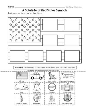american flag coloring page for first grade - patriotic symbols worksheets google search donna