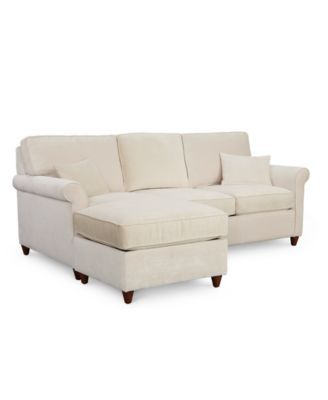 Lidia 82 Fabric 2-Pc. Chaise Sectional Queen Sleeper Sofa ...