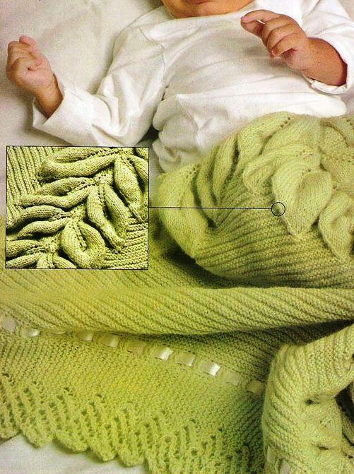 Mantilla para bebé | tejidos tricot y crochet | Pinterest | Mantas ...