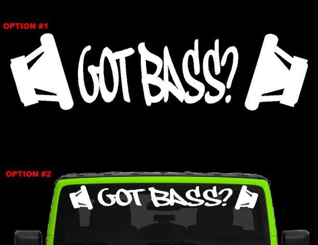 Got Bass Style 2 Car Audio Head Subwoofer Amp Decal