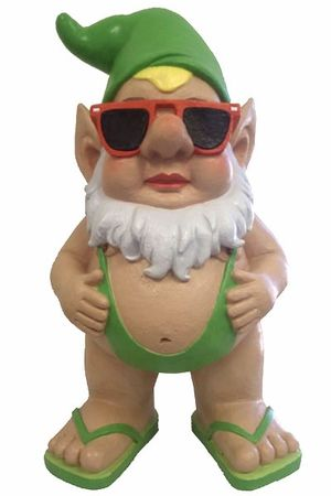 Mankini Gnome Statue Too Adorable! I Laughed And Laughed. He Would Look  Great In The Hot Tub Enclosure.