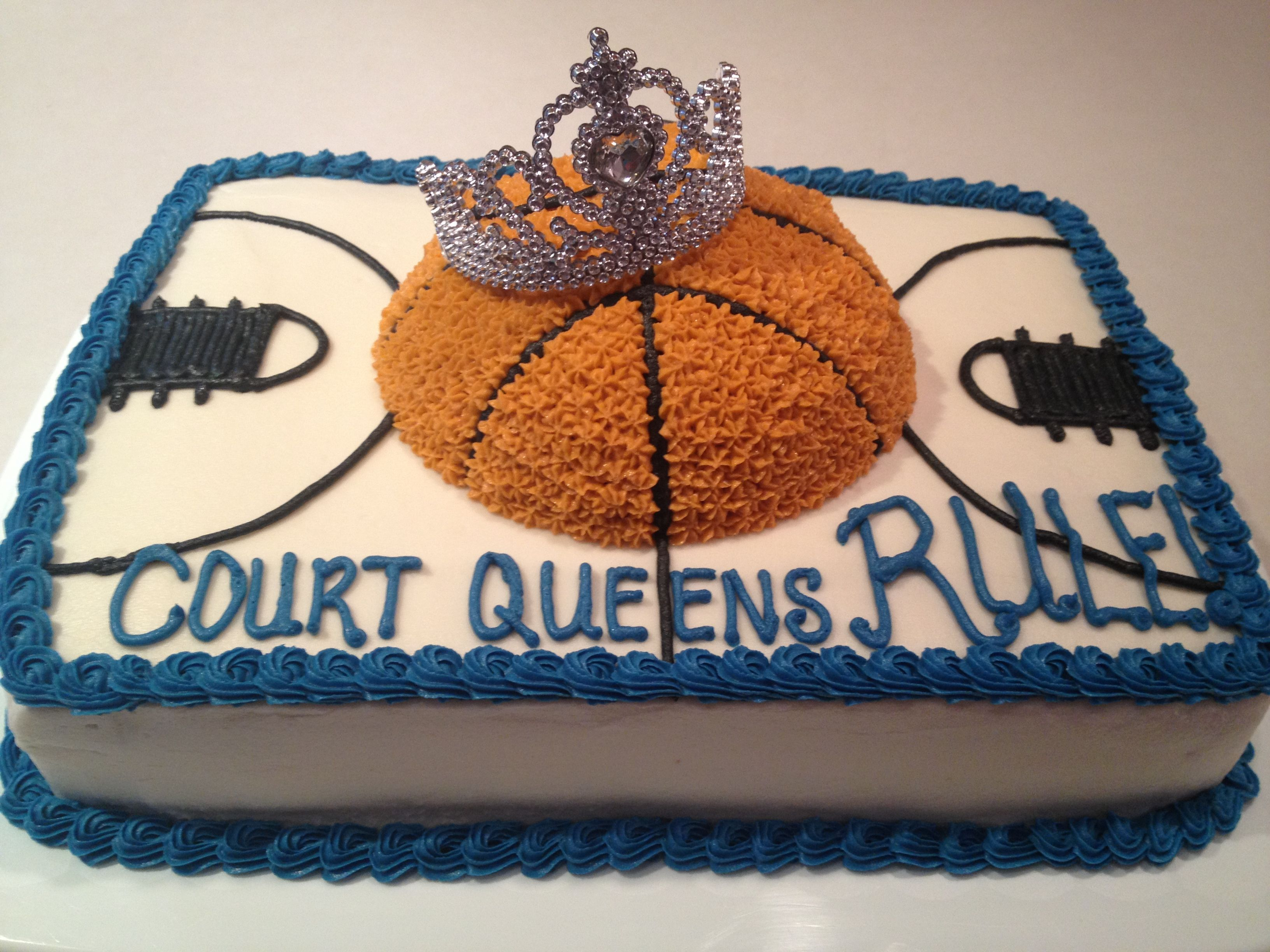 Girls Basketball Team Cake