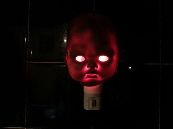 Babyzimmer Nightlight ~ Creepy doll head nightlight last in stock doll head