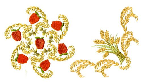 Wheat S Borders Machine Embroidery Pinterest Embroidery