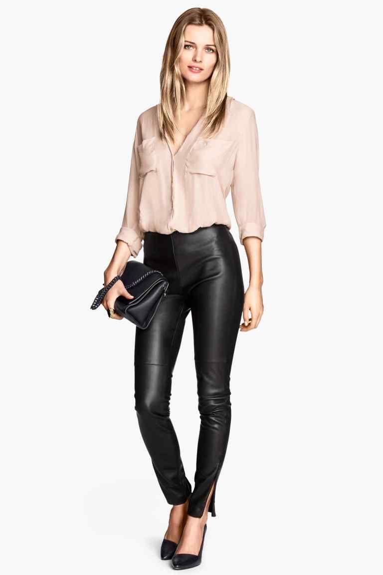 Pantalon En Piel Sintetica Pantalones De Piel Moda Para Mujer Ropa