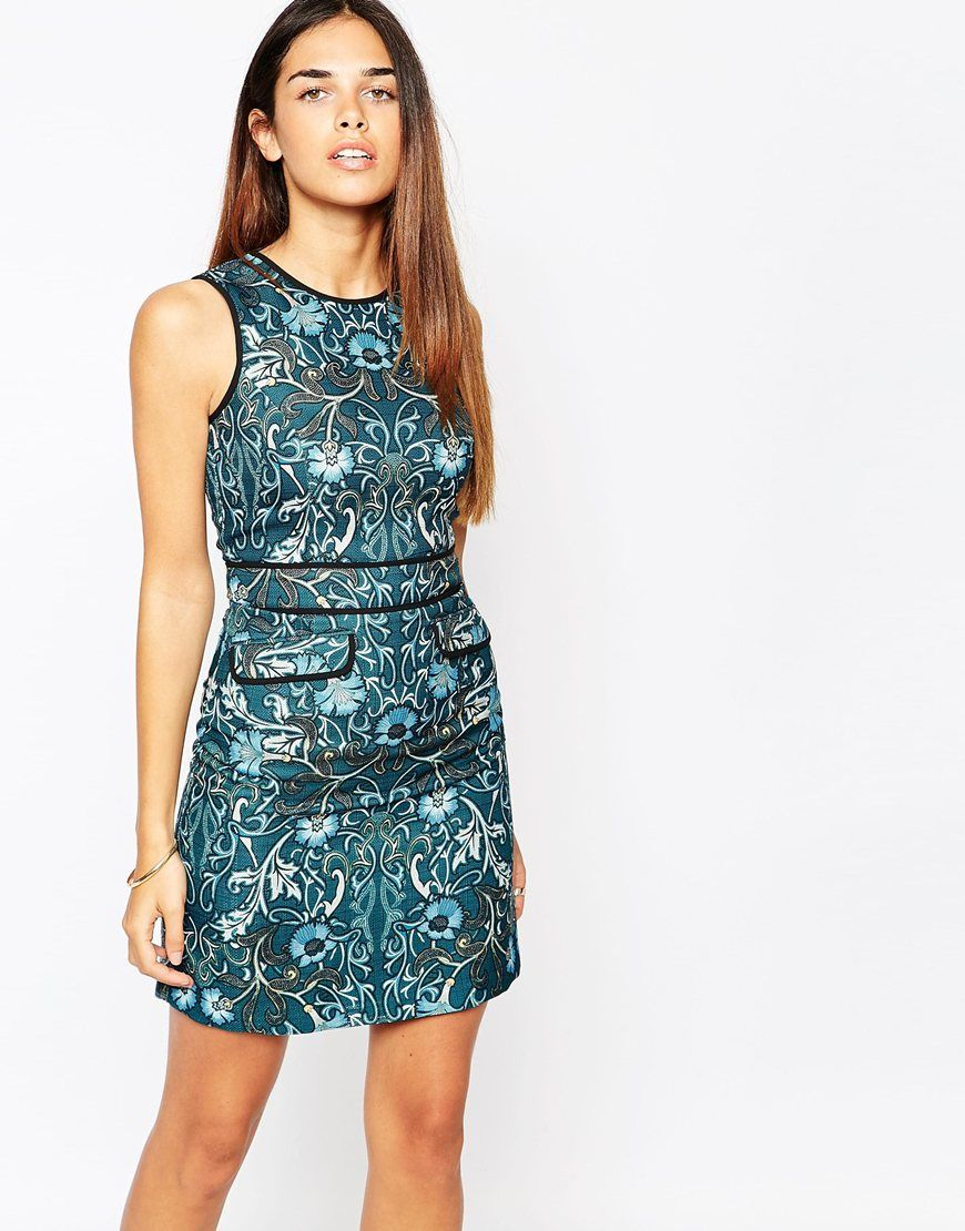 Warehouse Printed Shift Dress | Second Skin | Pinterest | Print ...