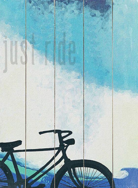 'Just Ride' Wood Wall Art