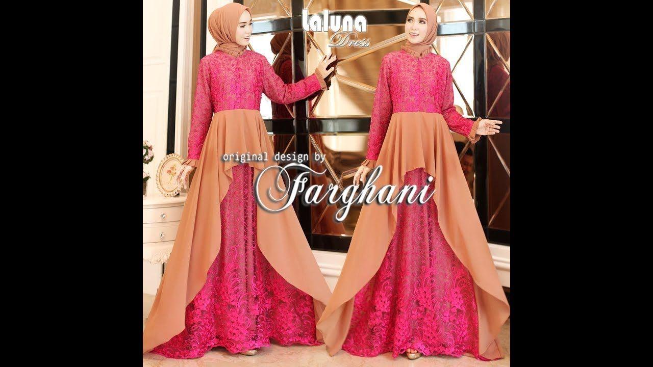 Gamis Brokat Kombinasi  Fashion, Simple outfits, Hijab fashion