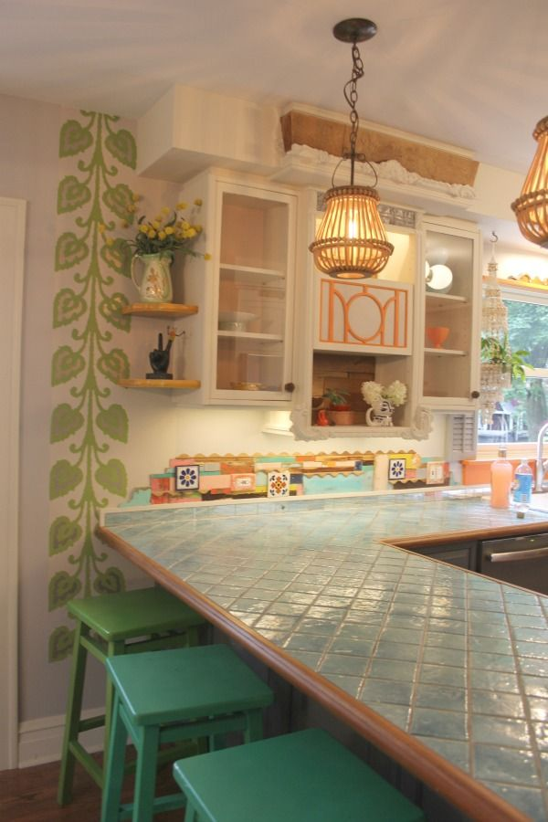 quirky colorful cottage with whimsical interior design by jenny sweeney cottage style decor on boho chic kitchen table decor id=39425