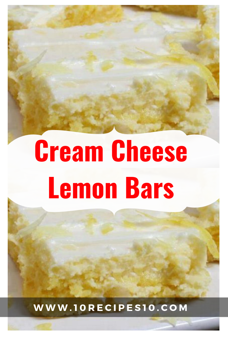 Lemon BarswithCream CheeseIcing will be the most requested dessert for all…