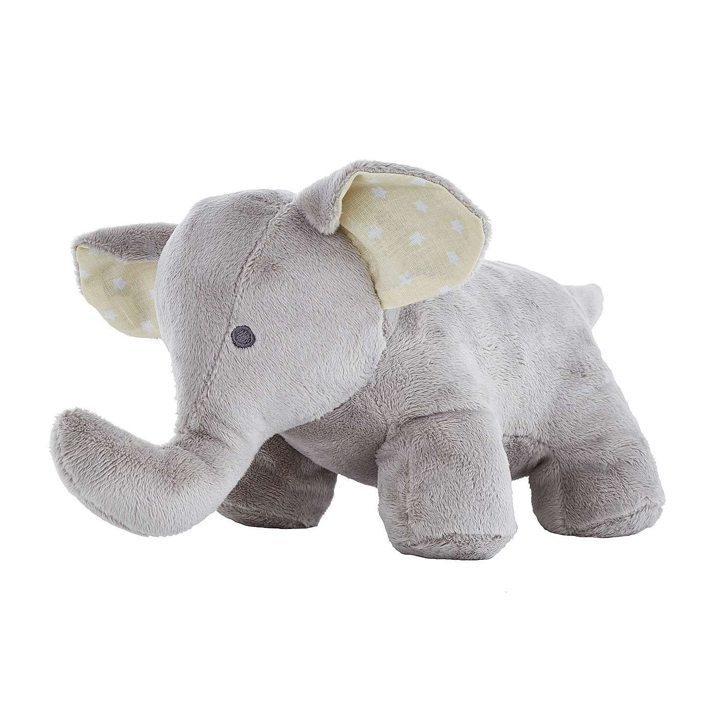 This Grey Elephant Doorstop Is Crafted From A Soft Plush Fabric And Is  Finished With A Yellow And White Star Lining In The Ears.