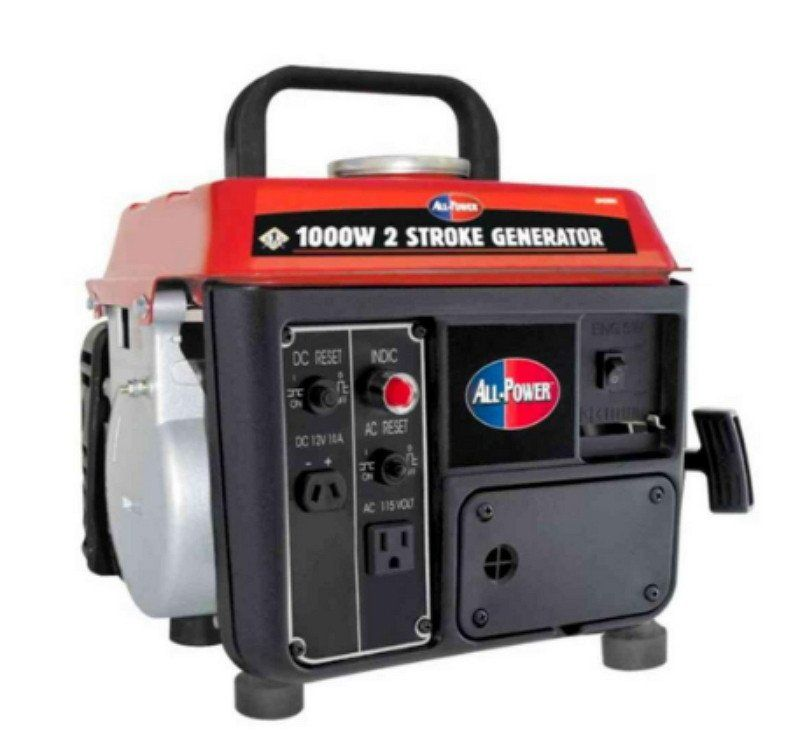 1 000 Watt 2 Stroke Powered Gas And Oil Mix Portable Generator Recoil Start Best Portable Generator Portable Generator Generators For Sale