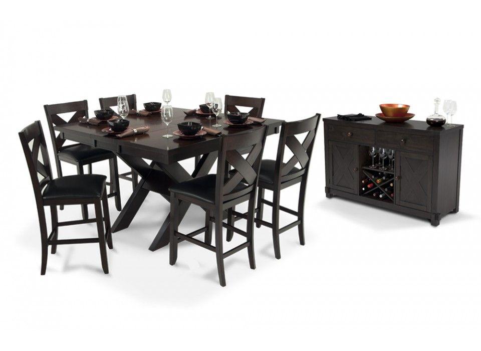 X Factor Pub 8 Piece Set Minimalist Dining Room Dining Room