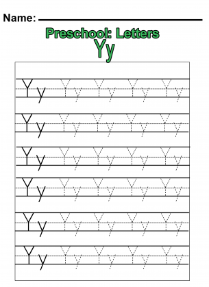 math worksheet : letter tracing small letter y  homeschooling alphabet  : Letter Y Worksheets For Kindergarten