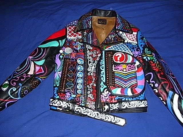 Custom Hand Painted Leather Jacket | Fashion | Pinterest | Leather ...