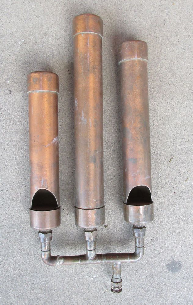 "Steam Whistle Copper 3 Tone Engine 15"" Large Unique ..."