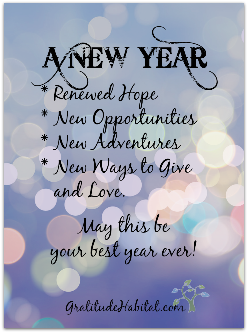 may this be your best year ever visit us at gratitudehabitatcom happy new year gratitude habitat love