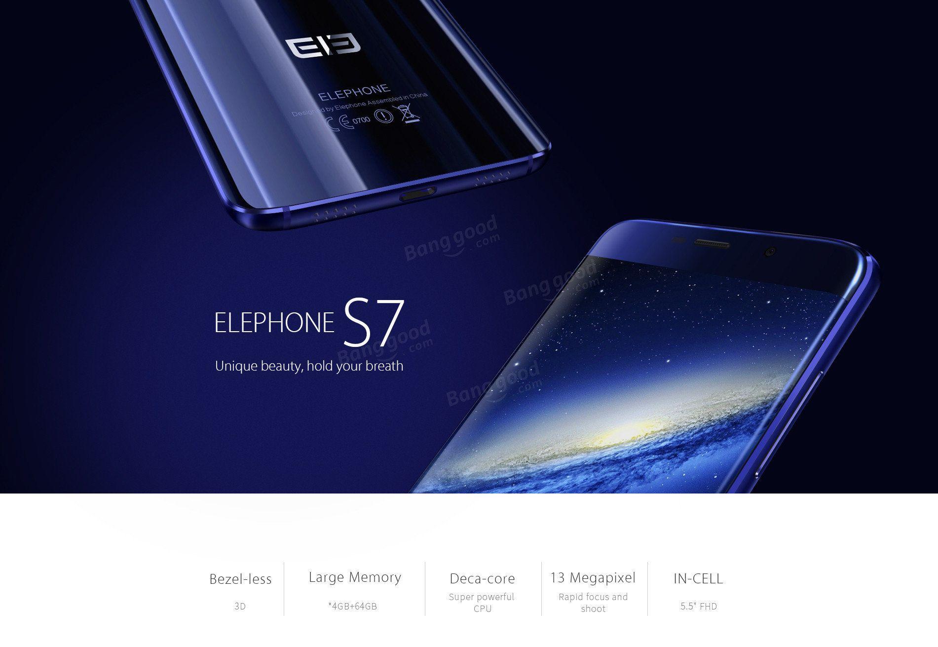 Elephone S7 55 Inch Fingerprint 4gb Ram 64gb Rom Helio X20 Deca Xiaomi Redmi Note 3 2gb 16gb 4g Lte X10 Octa Core Smartphone