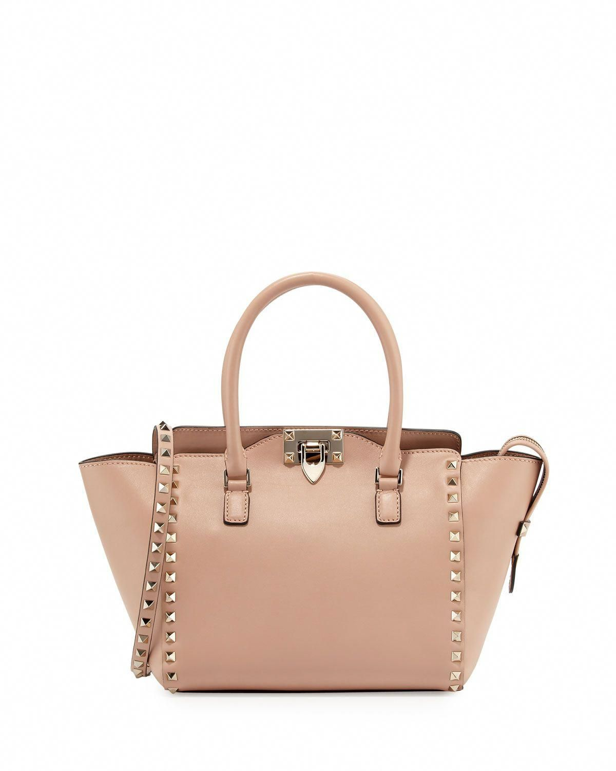 7d8b0a1d8b9 Red Valentino Small Shopper Double-Handle Rockstud Tote Bag, Taupe (Brown)